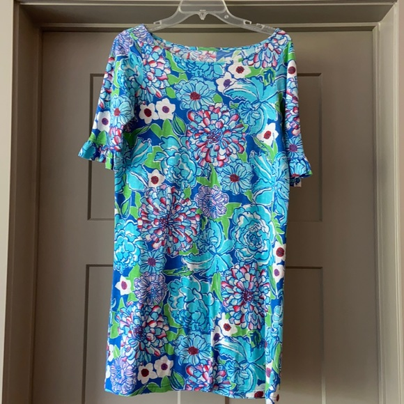 EUC Lilly Pulitzer Somerset Blue May Flowers Dress
